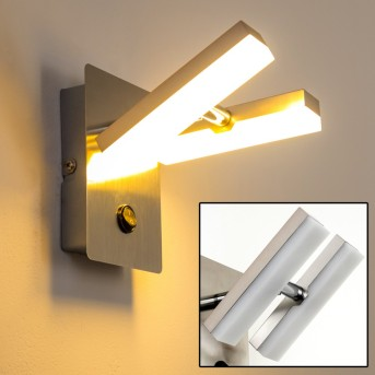 Sakami Applique LED Nichel opaco, 2-Luci