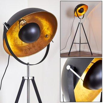Jupiter Lampada da terra Nero-Oro, 1-Luce