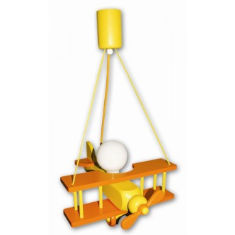 Waldi Flugzeug Lampada a sospensione Arancione, 1-Luce