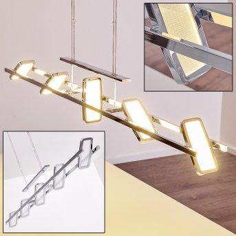 Gravendal Lampada a Sospensione LED Cromo, 5-Luci
