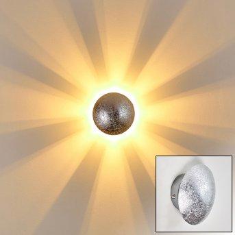 Mezia Applique Argento, 1-Luce