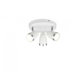 Globo Plafoniera rotonda con faretti LED Bianco, 3-Luci