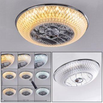 Sitges ventilatore da soffitto LED Cromo, 1-Luce, Telecomando
