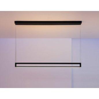 Escale Akio Lampada a Sospensione LED Nero, 2-Luci
