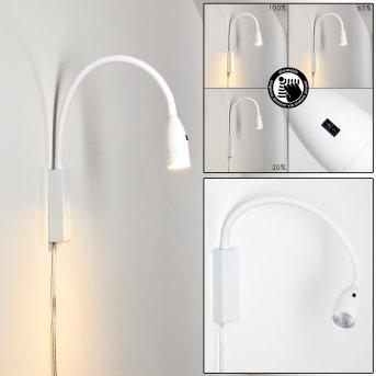 Alsea Lampada da comodino LED Bianco, 1-Luce, Sensori di movimento