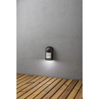 Konstsmide Prato Applique LED Nero, 1-Luce, Sensori di movimento