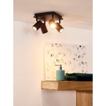 Faretto da soffitto Lucide LENNERT LED Nero, 4-Luci