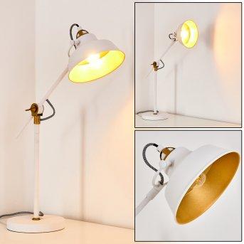 Luven Lampada da Tavolo LED Bianco, 1-Luce