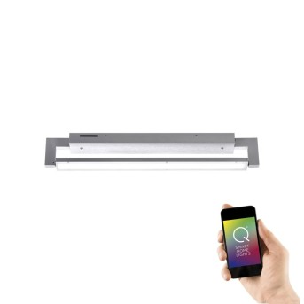 Applique e plafoniera Paul Neuhaus Q-Matteo LED Alluminio, 1-Luce, Telecomando