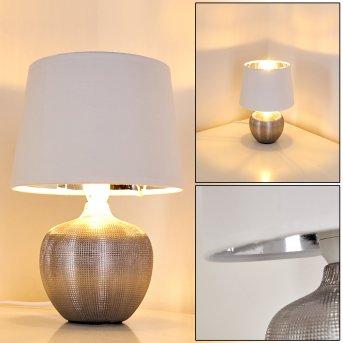 Stampa Lampada da Tavolo Argento, 1-Luce