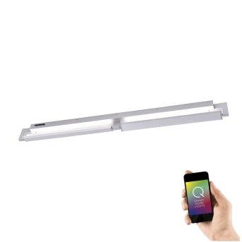 Applique e plafoniera Paul Neuhaus Q-Matteo LED Alluminio, 2-Luci, Telecomando