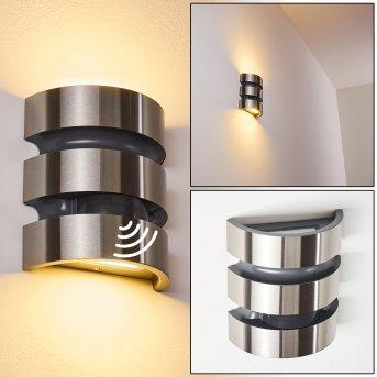 Kolding Applique da esterno LED Nero, Acciaio inox, 1-Luce, Sensori di movimento