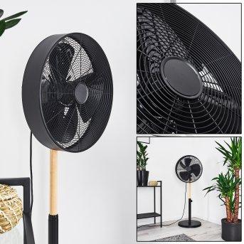 Markham Ventilatore Nero, Legno chiaro