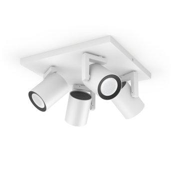 Philips Hue Ambiance White & Color Argenta Prolunga spot a parete/soffitto Bianco, 4-Luci, Cambia colore