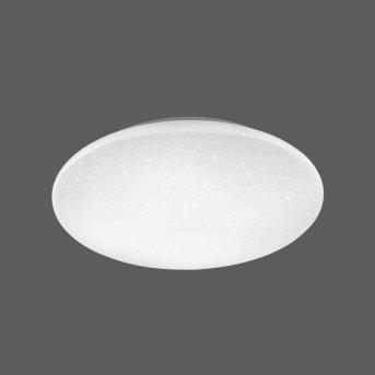 Leuchten-Direkt URANUS Plafoniera LED Bianco, 1-Luce, Telecomando