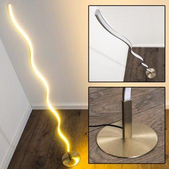 Dillon lampada da terra LED Nichel opaco, 1-Luce