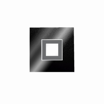 Grossmann KARREE Applique e plafoniera LED Nero, Titanio, 1-Luce