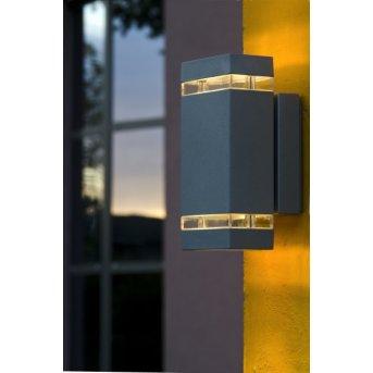 Lutec Lampen Focus Applique da esterno Antracite, 2-Luci