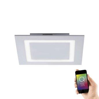 Paul Neuhaus Q-MIRAN Plafoniera LED Alluminio, 1-Luce, Telecomando, Cambia colore