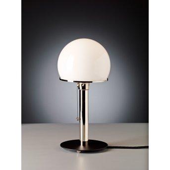 Tecnolumen Wagenfeld 23 Lampada da tavolo Nichel opaco, Nero, 1-Luce