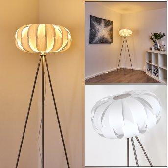 Zobus Lampada da terra Nichel opaco, 1-Luce
