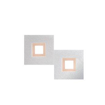 Grossmann KARREE Plafoniera LED Alluminio, Ramato, 2-Luci