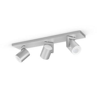 Philips Hue Ambiance White & Color Argenta Prolunga spot a parete/soffitto Argento, 3-Luci, Cambia colore