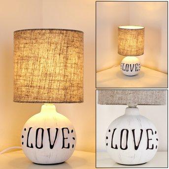 Seon LOVE Lampada da Tavolo Bianco, 1-Luce