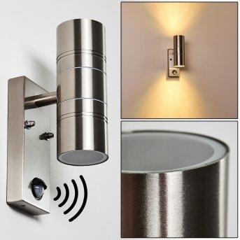 Froslev Applique LED Cromo, 2-Luci, Sensori di movimento