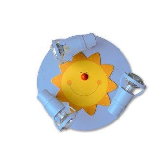 Waldi Sonne Plafoniera rotonda Blu, 3-Luci