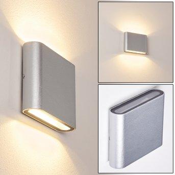 Tinglev Applique da esterno LED Argento, 2-Luci