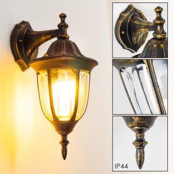 Ribadeo Applique da esterno Nero-Oro, 1-Luce