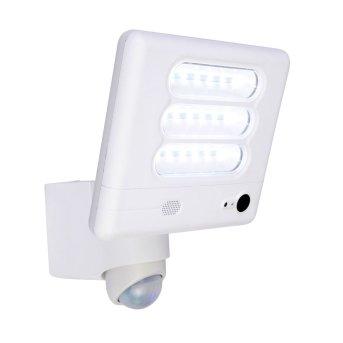 Lutec ESA Lampada con fotocamera LED Bianco, 1-Luce, Sensori di movimento