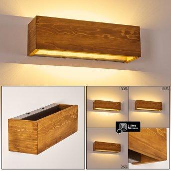 Adak Applique LED Legno scuro, 1-Luce