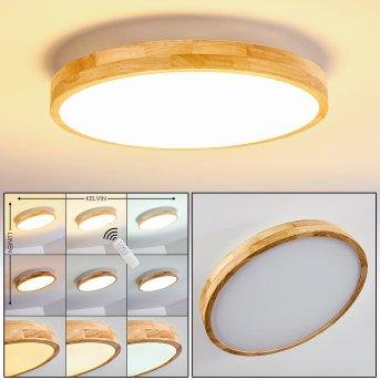 Bagaha Plafoniera LED Legno chiaro, 1-Luce, Telecomando