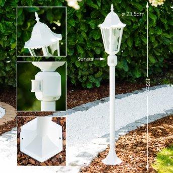 Bristol Lampada da terra per esterno Bianco, 1-Luce, Sensori di movimento
