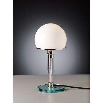 Tecnolumen Wagenfeld 24 Lampada da tavolo Nichel opaco, Trasparente, chiaro, 1-Luce