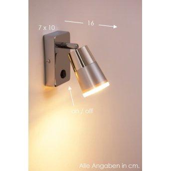 Leuchten-Direkt DALLI Applique LED Cromo, 1-Luce