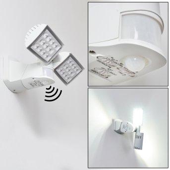 Loit Applique da esterno LED Bianco, 2-Luci, Sensori di movimento