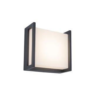 Lutec QUBO Applique da esterno Antracite, 1-Luce