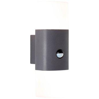AEG Farlay Applique da esterno LED Antracite, 2-Luci, Sensori di movimento