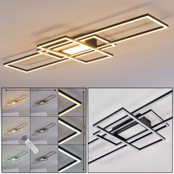 Alsterbro Plafoniera LED Nero, 1-Luce