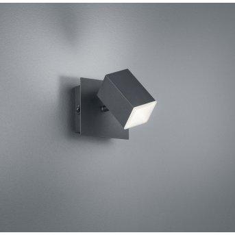 Trio LAGOS Applique LED Nero, 1-Luce