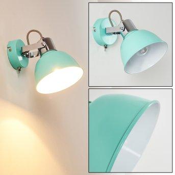 Borik Applique Blu, Verde, 1-Luce