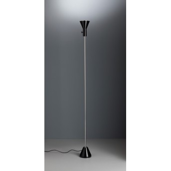 Tecnolumen ES 57 LED Faro Cromo, Nero, 1-Luce