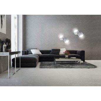 Grossmann GEO Applique e plafoniera LED Alluminio, 2-Luci