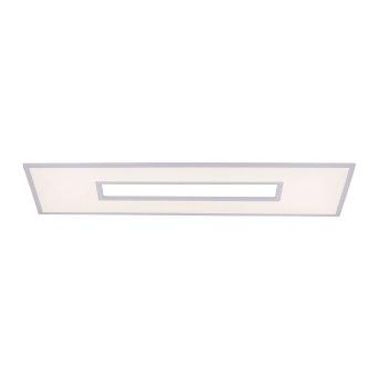 Leuchten-Direkt RECESS Plafoniera LED Bianco, 2-Luci, Telecomando, Cambia colore