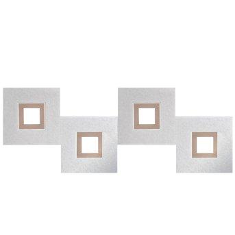 Grossmann KARREE Plafoniera LED Alluminio, Ramato, 4-Luci
