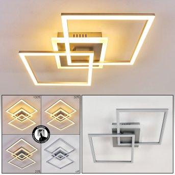 Lithgow Plafoniera LED Argento, 1-Luce