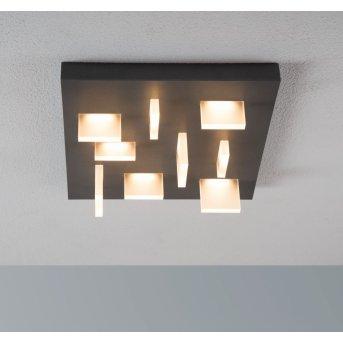 Escale Sharp Plafoniera LED Antracite, 9-Luci
